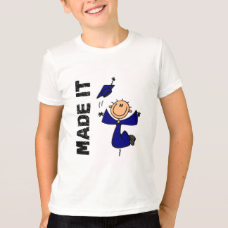MADE IT Stick Figure Graduation T-Shirt