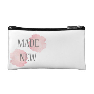 Made New Silver + Pink Cosmetic Bag