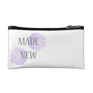 Made New Silver + Purple Makeup Bag