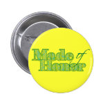 Made of Honour Green 6 Cm Round Badge