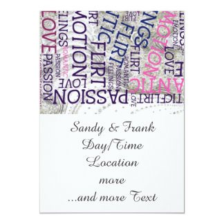 made of words,great feelings 13 cm x 18 cm invitation card