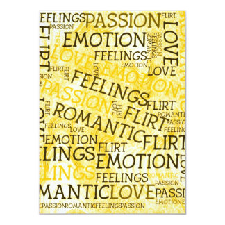 made of words, great feelings 11 cm x 16 cm invitation card
