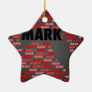 Made of Words MARK Christmas Ornaments