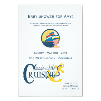 Made While on a Cruise Baby Shower Card