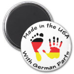 Made With German Parts 6 Cm Round Magnet