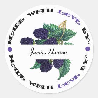 Made with Love Blackberry Sticker
