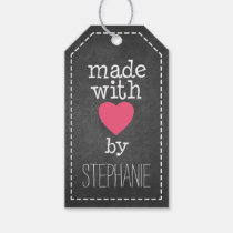 Made With Love By You - chalkboard Pack Of Gift Tags