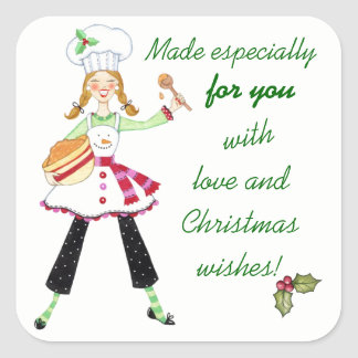Made with Love Christmas Baking Stickers