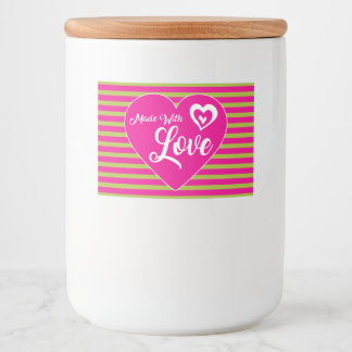 """Made With Love Food Container Label (3"""" x 2"""")"""