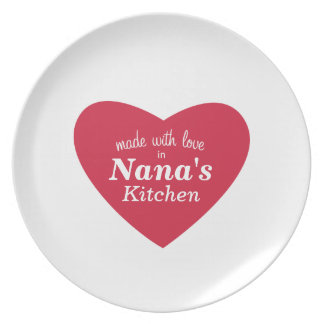 Made with Love Food Label Plate