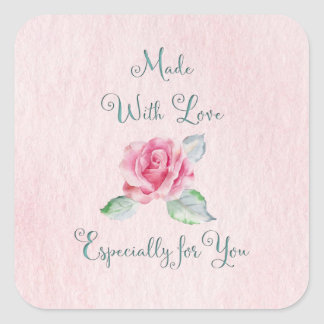 Made with Love for You Rose Sticker
