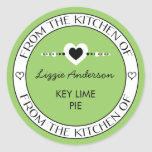 Made with Love From the Kitchen of Label | Green Round Stickers