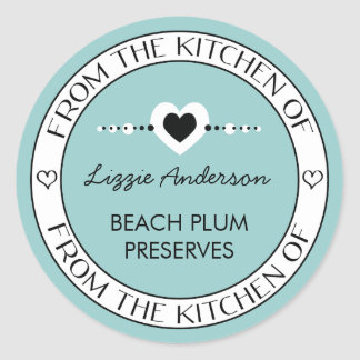 Made with Love From the Kitchen of Label Round Sticker