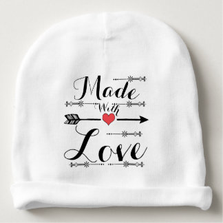 Made with Love Heart Arrow Beanie Cap Baby Beanie