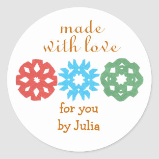 Made With Love holiday gift label Stickers