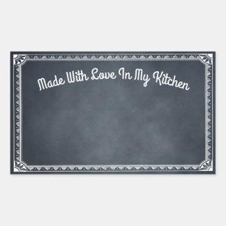 Made With Love In My Kitchen Blackboard Sticker