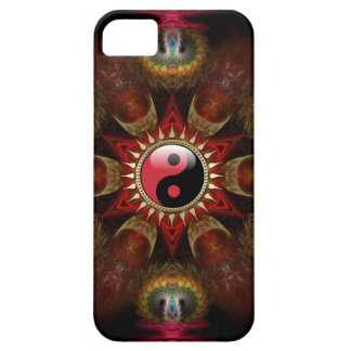 Made with Love : New Age Red YinYang Fractal Star iPhone 5 Cover