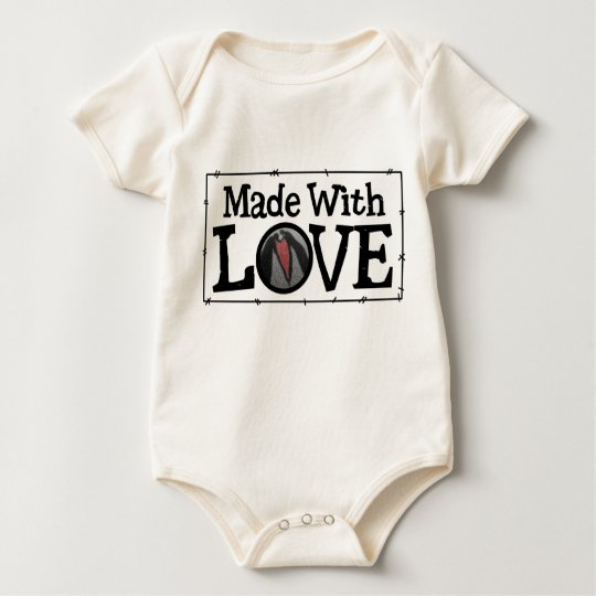 Made With Love Patch Baby Bodysuit