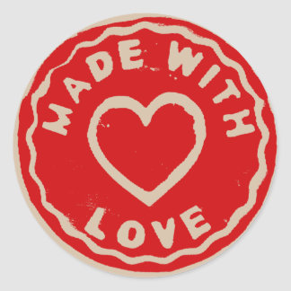 Made with love sticker DIY products