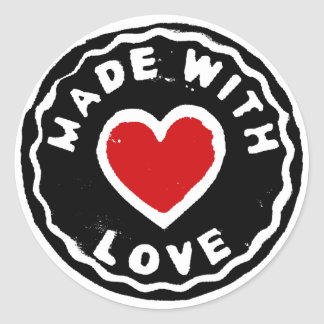 Made with love sticker home made products