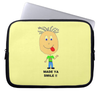 made ya smile computer sleeve