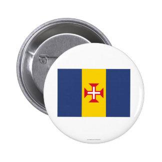Madeira Flag 6 Cm Round Badge