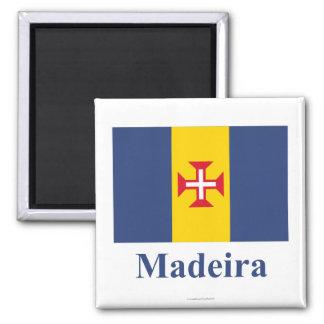 Madeira Flag with Name Refrigerator Magnet