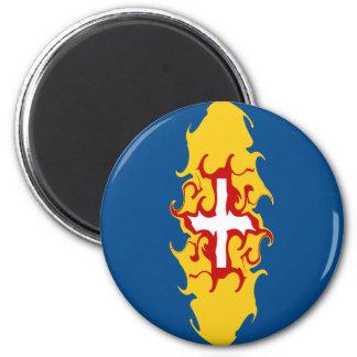 Madeira Gnarly Flag 6 Cm Round Magnet