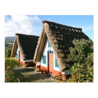 Madeira Island typical houses, Portugal Postcard
