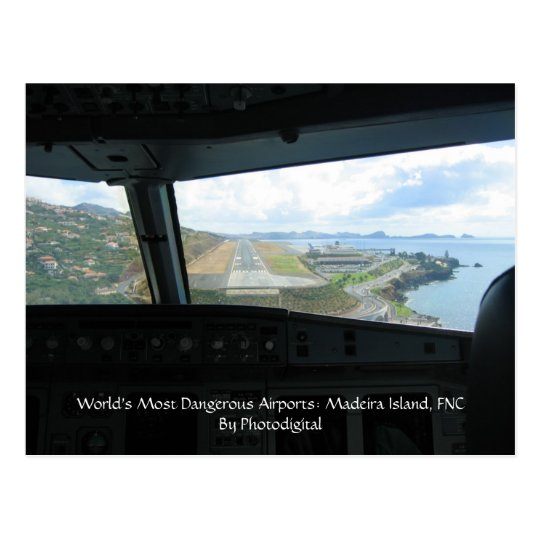 Madeira Island, World's Most Dangerous Airports... Postcard