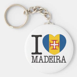 Madeira Love v2 Basic Round Button Key Ring