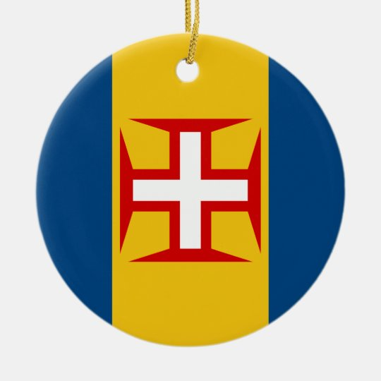 Madeira (Portugal) Flag Christmas Ornament