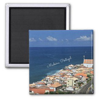Madeira, Portugal Landscape Square Magnet