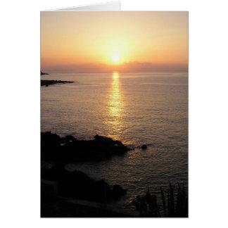Madeira Sunrise Greeting Card