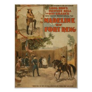 Madeline of Fort Reno Vintage Theater Print