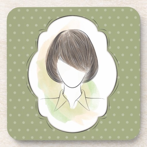 Madeline - portrait of a woman coasters