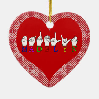 MADELYN CERAMIC HEART DECORATION