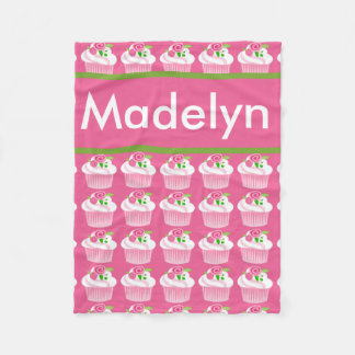Madelyn's Personalized Cupcake Blanket
