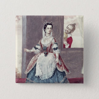Mademoiselle Contat  in the Role of Suzanne 15 Cm Square Badge