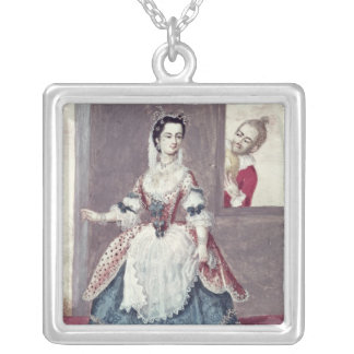 Mademoiselle Contat  in the Role of Suzanne Silver Plated Necklace
