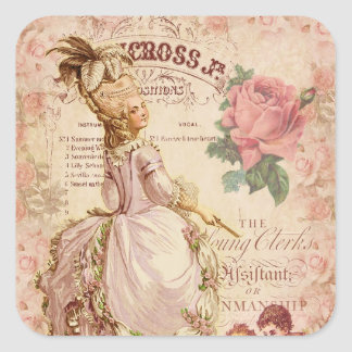 Mademoiselle Couture Square Sticker