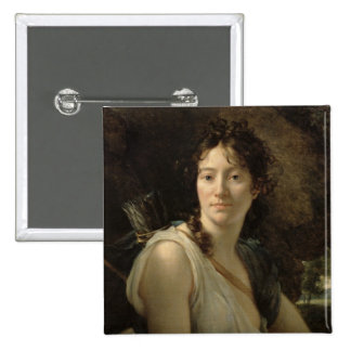 Mademoiselle Duchesnoy in the Role of Dido 15 Cm Square Badge