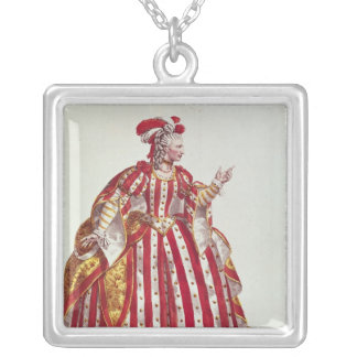 Mademoiselle Dumesnil  in the Role of Silver Plated Necklace