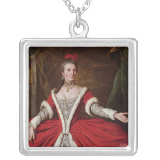 Mademoiselle Dumesnil Square Pendant Necklace