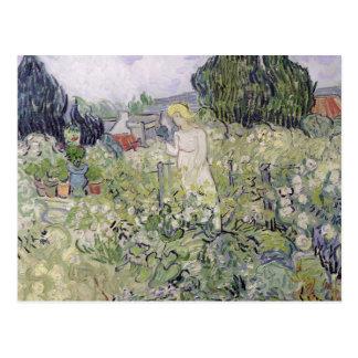 Mademoiselle Gachet in her garden Postcard