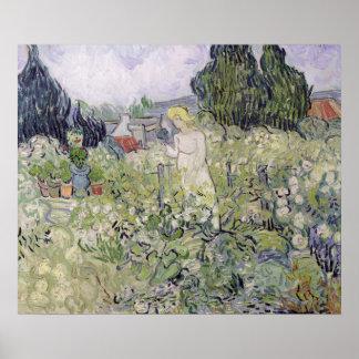 Mademoiselle Gachet in her garden Poster