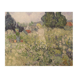 Mademoiselle Gachet in her garden Wood Canvases