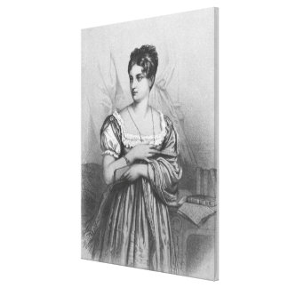 Mademoiselle George, engraved by J. Champagne Stretched Canvas Print