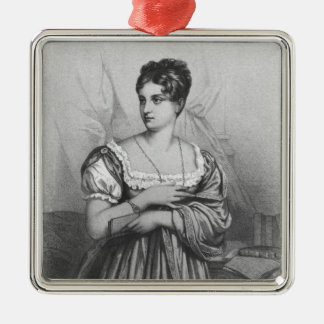 Mademoiselle George, engraved by J. Champagne Silver-Colored Square Decoration