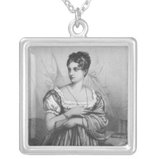 Mademoiselle George, engraved by J. Champagne Silver Plated Necklace